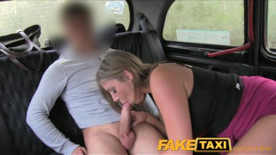 FakeTaxi Tremendous titties sexy girl takes it from behind