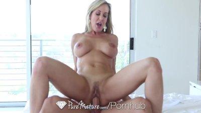 PureMature – Erotic cougar Brandi Like smashes Johnny Citadel
