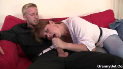 Busty old bitch is picked and fucked