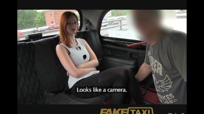 FakeTaxi Playful ginger with a noteworthy pair of titties