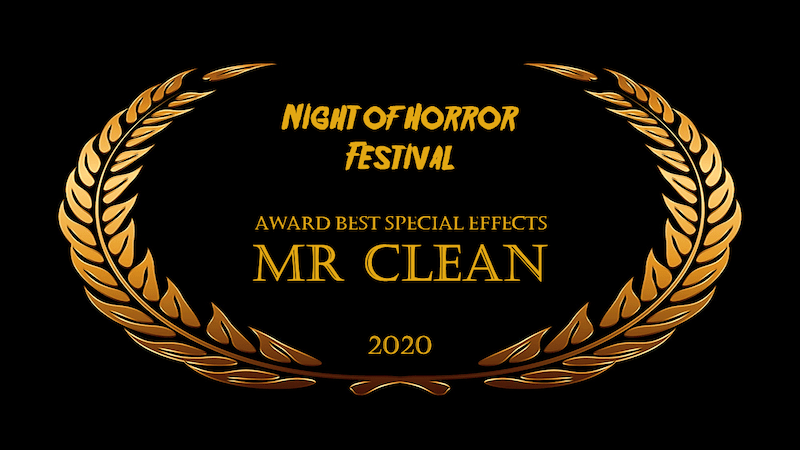 NIGHT OF THE HORROR film fest Best Special Effects award laurel wreath