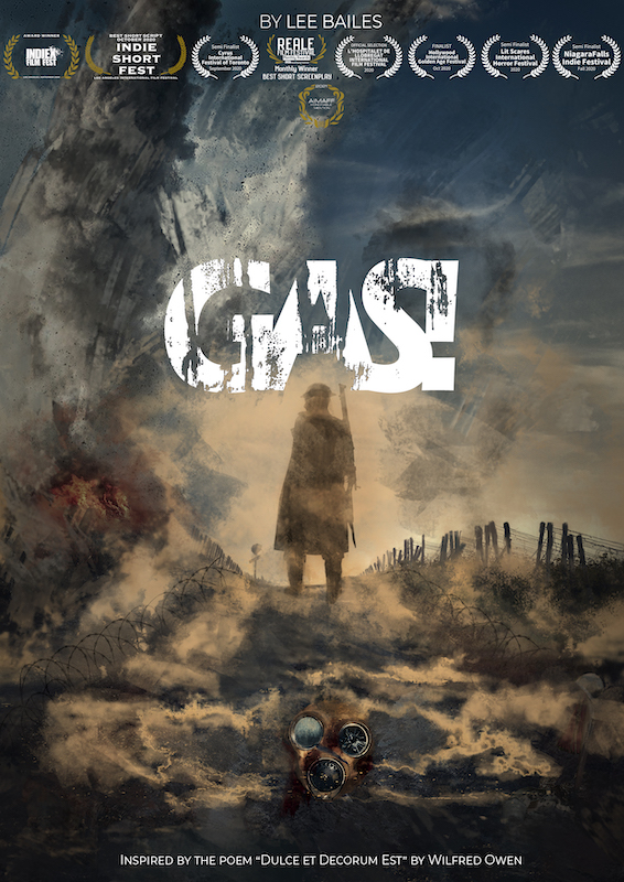 Gas! poster with 11 laurels