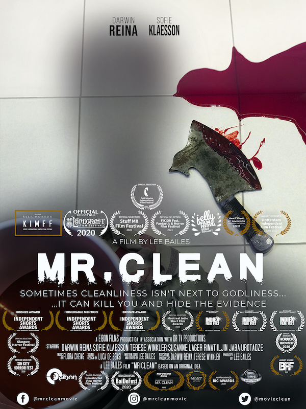 MR CLEAN poster with latest Fest selections and awards