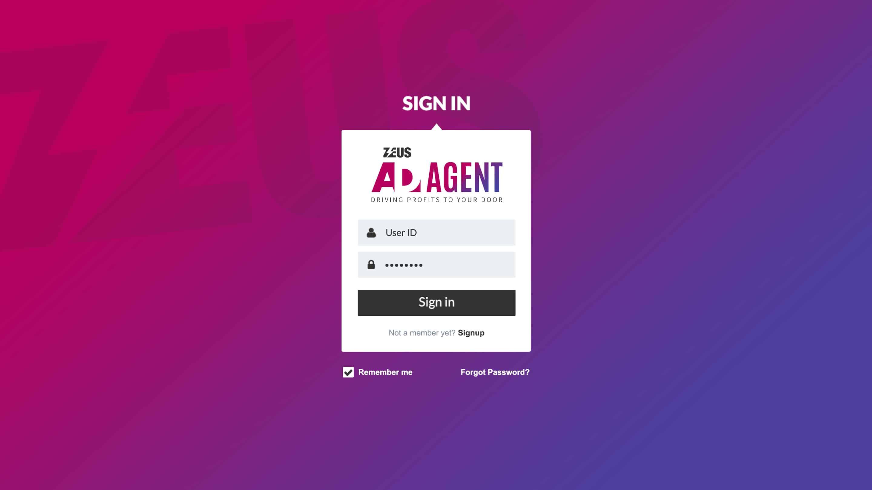 Zeus AD-Agent – Login