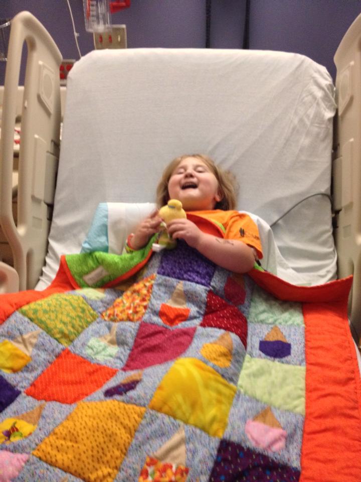 Namine loves her new quilt.