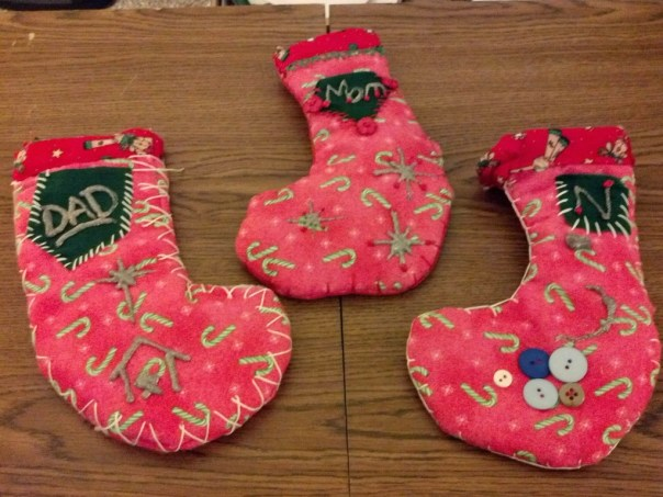Our finished stockings.