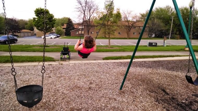 Namine loves swinging.