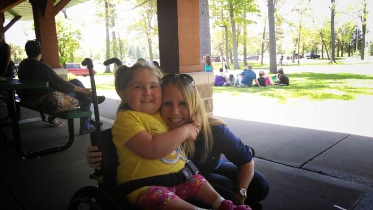 Namine was so excited to see Miss Sara, she put her in a headlock and wouldn't let go. Well, she eventually did.