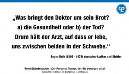 Eugen Roth 300x171 - Was bringt den Doktor um sein Brot?