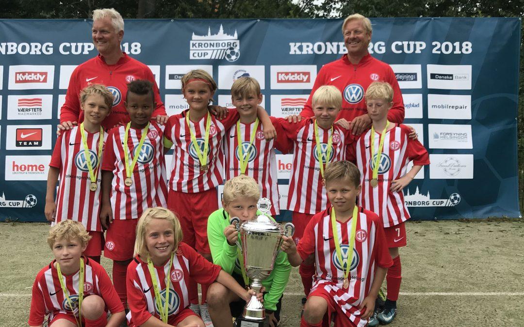 EIF u11 suverænvinder afA-rækken iKronborg Cup 2018