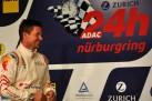 Himmelsspringer Felix Baumgartner trainierte beim Quali-Rennen am Nürburgring für seinen Einsatz bei 24-Stunden-Rennen im Juni. (Foto: Reiner Züll)