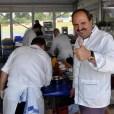 Sternekoch Johann Lafer agierte beim Oldtimer-Grand-Prix als Markenbotschafter für Jaguar und kochte für die Gäste. (Foto: Reiner Züll)