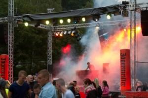 """Die Bühnentechnik beim """"Mühlenzauber"""" konnte sich sehen und hören lassen. Bild: Tameer Gunnar Eden/Eifeler Presse Agentur/epa"""