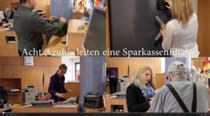 Von jetzt auf gleich mitten im Berufsleben: Die Auszubildenden der Kreissparkasse Euskirchen ließen sich auf ein ambitioniertes Projekt ein. Bild: epa