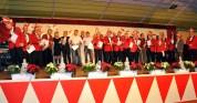 Beim Festabend wurde eine große Anzahl treuer Mitglieder geehrt. Bild: Reiner Züll