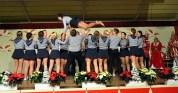 """Die Showtanzgruppe der """"Löstige Bröder"""" bot akrobatische Tänze. Bild: Reiner Züll"""