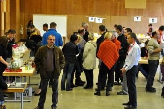 Die Typisierungsaktion in der Grenzlandhalle in Hellenthal war ein großer Erfolg. 760 Menschen kamen zum Bluttest. (Foto: Reiner Züll)