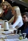 Auch die Vorzimmerdame des Bürgermeisters, Katharina Mahlstedt (Mitte), betätigte sich als Schreibkraft. Sie hat schon Stammzellen für einen Leukämiekranken gespendet. (Foto: Reiner Züll)