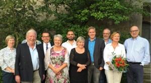 Der SPD-Kreisvorsitzende Markus Ramers (4. v. r.), die SPD-Bundestagsabgeordnete Helga Kühn-Mengel (5. v. r.) und der SPD-Landratskandidat Guido Maassen (8. v. r.) mit den Preisträgerinnen und Preisträgern. Bild: SPD Kreis Euskirchen