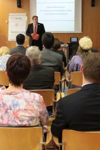 KSK-Vorstandsvorsitzender Udo Becker betonte in seiner Ansprache die Bedeutung der Gründer für die Wirtschaft insgesamt. Bild: Michael Thalken/Eifeler Presse Agentur/epa