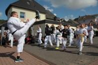 Kaller Karateverein zeigte sein Können. Bild: Michael Thalken/epa