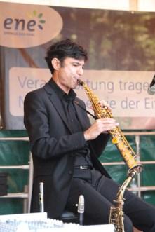 Gabriel Perez am Saxophon. Bild: Michael Thalken/epa