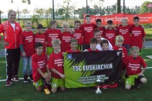 7:0 hieß es am Ende für die D-Jugend des TSC, die damit den 1. FAV/ DJK Bad Münstereifel besiegte. Bild: Michael Kratz/FVM