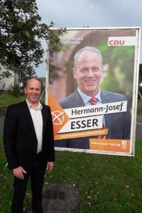 Die Kaller Wahlberechtigten haben entschieden: Mit 61,39  Prozent wurde Hermann-Josef Esser zum neuen Bürgermeister gewählt. Bild: Esser