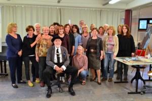Markus Lüpertz war zu Gast in der Internationalen Kunstakademie Heimbach. Bild Privat