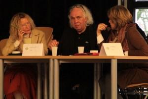 Sieglinde Schneider (v.l.), Helmut Lanio und Viola Alvarez hatten es nicht leicht, die jungen Rhetoren zu bewerten. Bild: Michael Thalken/Eifeler Presse Agentur/epa