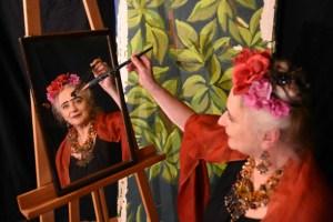 Karin Krömer spielt Frida Kahlo. Bild: Veranstalter