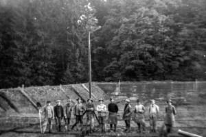 Buchautor und Journalist Franz Albert Heinen beschäftigt sich im Jahresheft 2019 mit dem Bau des Schleidener Schwimmbads. Bild: Nachlass Peter Klein/Schleiden