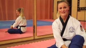 Jessica Rau ist mehrfache deutsche Meisterin im Taekwondo. Bild: Tameer Gunnar Eden/Eifeler Presse Agentur/epa