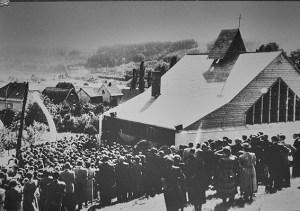 Die Diasporakapelle in Overath wurde am 22. Juli 1951 eröffnet. Foto: Gemeindearchiv der evangelischen Kirche Overath
