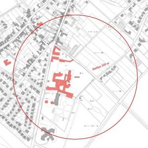 Der Bereich um den Bombenfund muss in einem Radius von 300 Metern geräumt werden. Bild: Stadt Zülpich