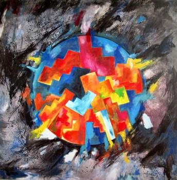 """""""Chaos durch Religionen"""" lautet der Titel dieses Bildes von Franz Kruse. Repro: Franz Kruse"""