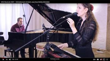 """Wegen der Corona-Pandemie online will das Jazz-Duo Müller/Michalke im Rahmen von """"Eifel Musicale"""" spielen. Foto: Daniel Gronsfeld"""