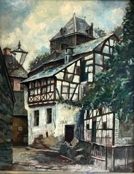 Auch diese malerische Ansicht Blankenheim gehört mit zu den Dauerleihgaben, die Alois Sommer dem Eifelmuseum Blankenheim übergab. Bild: Eifelmuseum Blankenheim