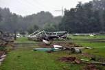 Vom Rasenplatz des Kaller SC blieb nach der Flut nicht viel übrig. Er wurde total zerstört. Reiner Züll
