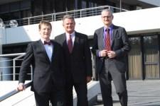 Die Verantwortlichen für die Gründermesse Aufbruch 2012. v.l.n.r.: Michael F. Bayer, Landrat Günter Rosenke und Gerd Schäfer. Bild: Kreispressestelle Euskirchen