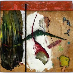 Neben der Malerei von Jürgen A. Roder sind auch seine Skulpturen und Filme in der Galerie zu sehen. Bild: Veranstalter