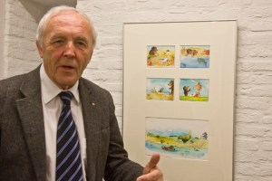 Prof. Dr. Frank Günter Zehnder gab bereits eine erste kleine Einführung in die Arbeiten von Janosch. Bild: Tameer Gunnar Eden/Eifeler Presse Agentur/epa