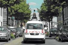 So sieht es aus, das Kamera-Fahrzeug, das im Auftrag des Kreises Euskirchen unterwegs ist. Bild: Kreis Euskirchen