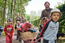 Abenteuer im Museumswald können Kinder bei der Osterferienaktion im Freilichtmuseum Kommern erleben. Bild: Tameer Gunnar Eden/Eifeler Presse Agentur/epa