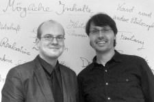 Die beiden Herausgeber der Anthologie und Leiter der Schreibwerkstatt: Andreas Züll (links) und Georg Miesen. Bild: Züll