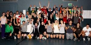 Die Teilnehmer der 13. Volleyballnacht hatten wieder einmal Riesenspaß. Bild: Carsten Düppengießer