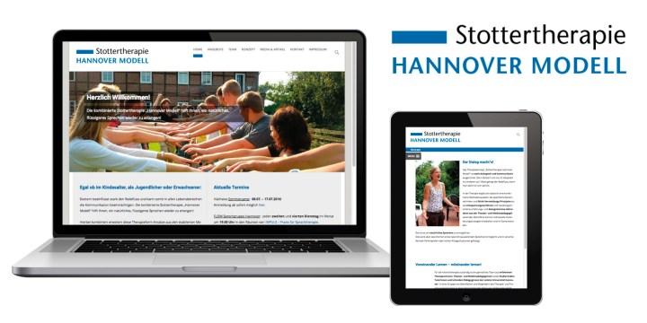 Logogestaltung und Webdesign für Stottertherapie Hannover Modell
