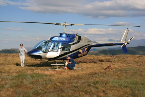 Helikopterflug auf die Gipfel der Drakensberge (Südafrika) Foto: Urlaubsengel
