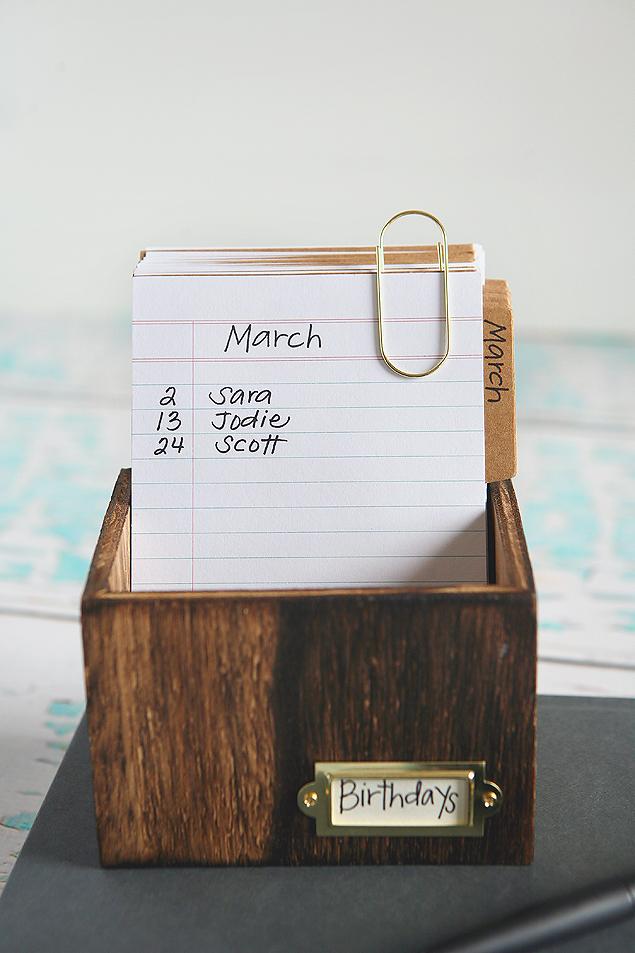 Recipe Box Birthday Calendar | Birthday Reminder
