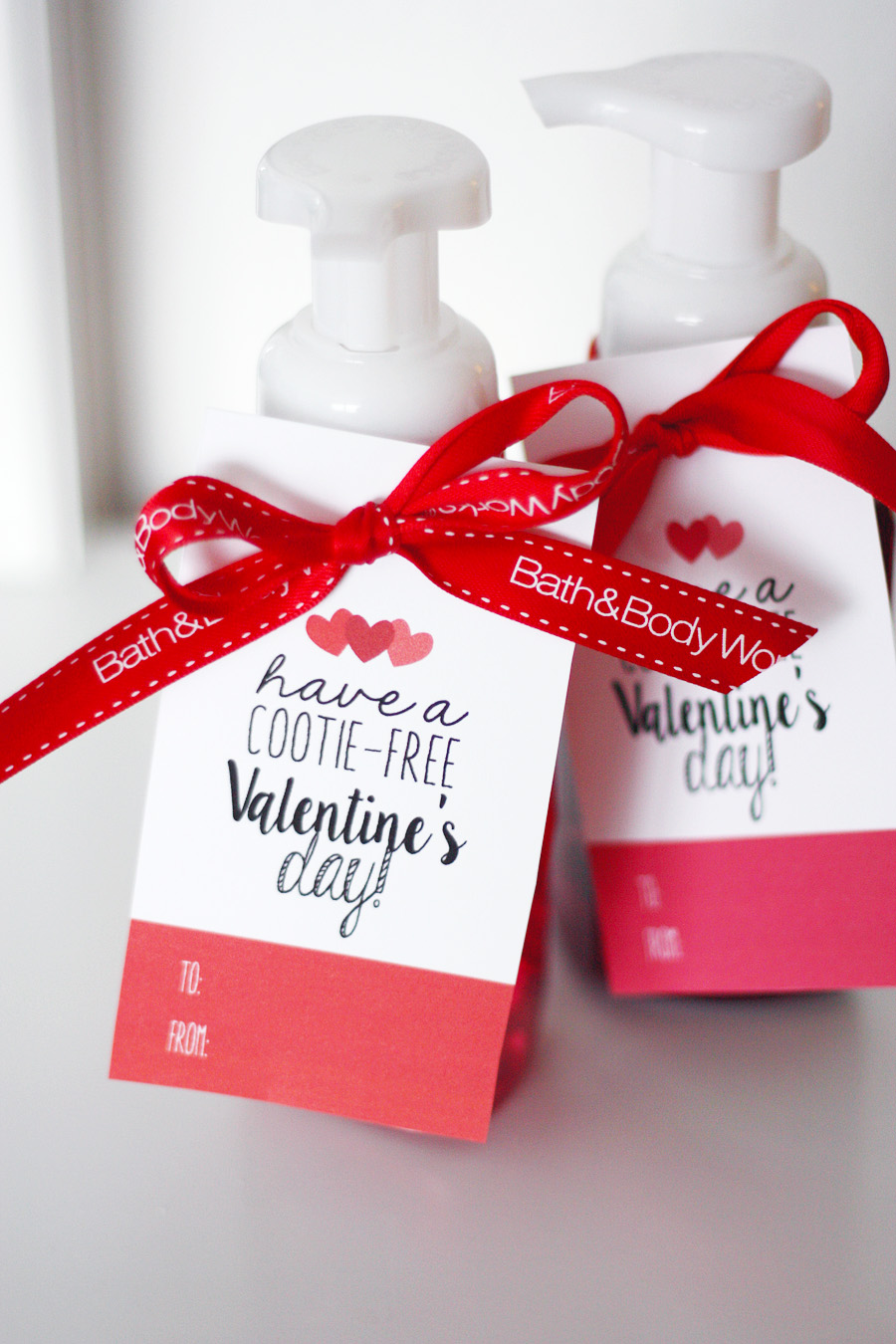 Valentines Day Cootie Free Tags Eighteen25